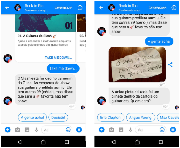 chatbot do rock in rio